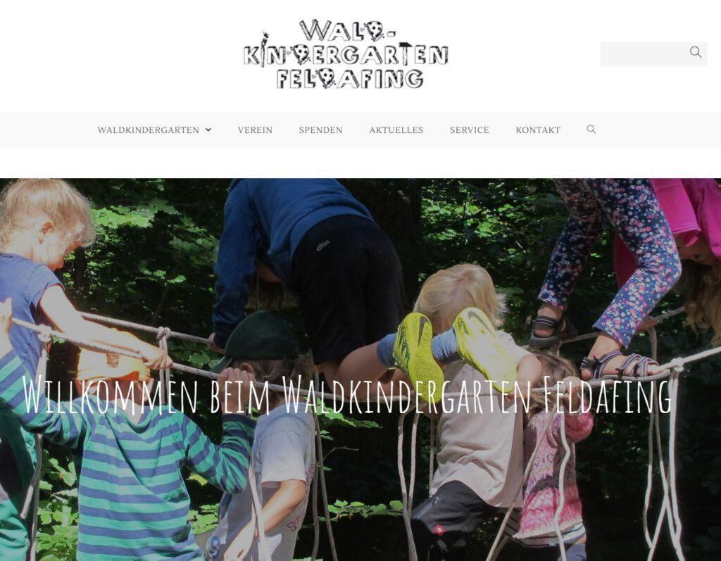 Website Waldkindergarten Feldafing